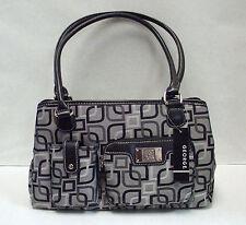George Women's Jacquard Satchel Bag - Charcoal