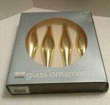Martha Stewart Vintage Set of 4 Glass Flute-Shaped Faux Brass Ornaments