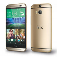 "HTC One M8 32GB  Dual 4MP Camera 3G 4G WIFI  5"" Unlocked Mobile Phone - Gold"