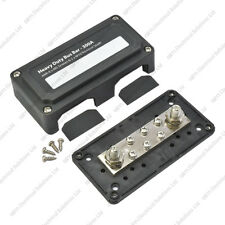 Heavy Duty Bus Bar / Distribution Box & Screw On Cover - 300A - 6x5mm Studs
