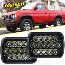 """Pair 7x6""""Inch LED Sealed Beam Replacement H6054 H6014 For Nissan Pickup Hardbody"""