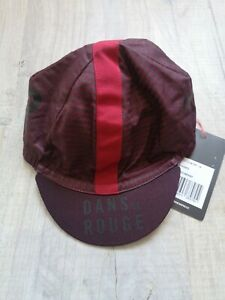 NEW RAPHA CYCLING CAP CYCKE CLUB CAP - LA BLACK AND RED DANA LE ROUGE SIZE SMALL