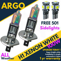 H1 100w Bright Power Ultra White Xenon 499 Dipped Head 501 Side lights Bulbs 12v