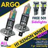 H1 100w Bright Power Ultra White Xenon 499 Dipped Head 501 Side lights Bulbs 12v