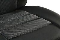 Stoff Sitzbezüge Sitzmatte Autositzbezüge Schwarz. Für Renault Trafic.