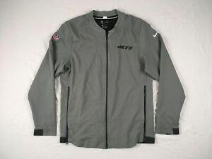 New York Jets Nike Jacket Men's Gray Dri-Fit Used Multiple Sizes