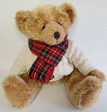 Harrods 2002 Christmas Bear Plush Stuffed Animal Dated Mint Limited Collectible