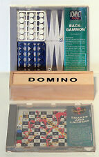 SNAKES & LADDERS / BACKGAMMON / DOMINOES - 3 GREAT TRAVEL GAMES