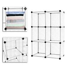6-Cube DIY Kleiderschrank Schuhablage Steckregal Schrank Regalsystem Garderoben