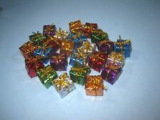 Miniature Holographic Foil Wrapped Gift Boxes Christmas Presents 24 pc. 1/2""