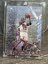 Michael Jordan Card - Refractor - UPPER DECK SP INSERT CHROME FOIL  - BULLS #23