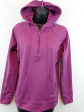 Under Armour Women UA 1/4 Zip Pullover Hoodie Small Pink/Purple