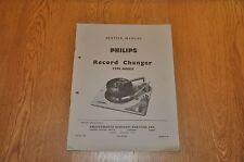 Philips AG 1025 Record Player deck Autochanger Workshop service manual AG1025
