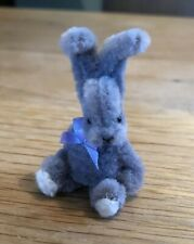 Handmade Cute Pipe Cleaner Rabbit With Bow 1.7 Inches Miniature Collectible