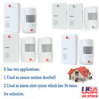 1byone Wireless Driveway Alarm System Doorbell Sensor Home Security Long Range