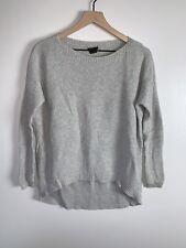 Theory Womens Long Sleeve Gray Knit Sweater Size Small