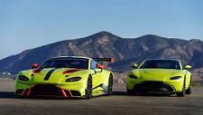 "2018 Aston Martin Vantage GTE CAR Silk Poster Print - 24x36"""