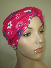 Womens Rose Floral TurbanChemoHat Cancer Hat Hijab Alopecia
