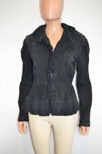 Ralph Lauren Collection Black Suede Ruffled Peplum Blazer/Jacket, Sz 6