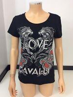 Roberto Cavalli Black Top Size 42 Uk 12 T Shirt Short Sleeve