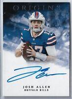 2018 Panini Origins Football Josh Allen On card autograph Buffalo Bills RC