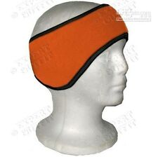 Polar Fleece orange Ear Muff Warmer Wrap Head Band unisex