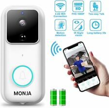 Smart Video Doorbell FHD 1080P Wireless Security Camera 170°Wide Angle Wide