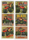 """25 Blaze Monster Machines Off Road Camo Stickers 2.5"""" x 2.5"""" each, Party Favors"""