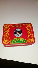 Vintage Coca Cola Playing Cards In Tin~1 Full Deck one deck un opened