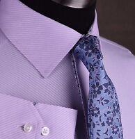 Luxury Lilac Twill Designer Fashion Dress Shirt Paisley Formal Business Apparel