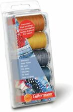 Gutermann Thread Set Jeans 3 Spools x 100m, 2 Spools x 200m - Blues & Golds