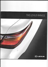 LEXUS LS 600h, GS 450h, RX 450h, ISF, IS 220d, IS 250 & IS250C BROCHURE 2010