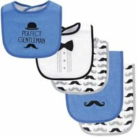 Hudson Baby Bib and Burp Cloth Set 5-Piece, Perfect Gentleman, One Size