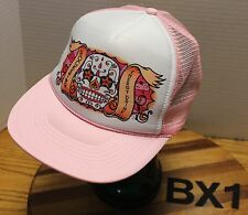 ROCK STAR ENERGY DRINK WOMENS PINK AND WHITE SNAPBACK MESH BACK VGC BX3