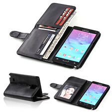 New Card Holder Flip Wallet Leather Case Cover For Apple iPhone And Samsung