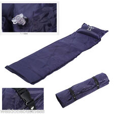 NEW SINGLE SELF INFLATING PICNIC CAMPING MAT SLEEPING PAD WITH PILLOW + BAG