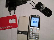 Nokia 5070 RM 166 weiß / blau + Lader Taschenlampe gebraucht Art. Nr. 149 X