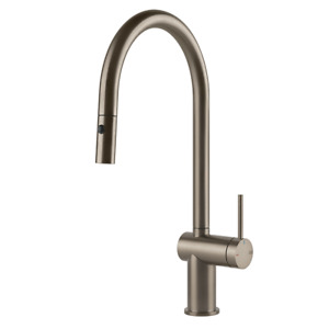 GESSI Inedito PULL OUT Dual Function KITCHEN MIXER BRUSHED NICKEL FINISH