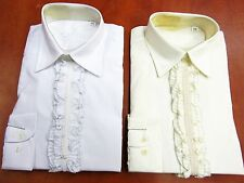 Ruffle Shirt White or Ivory Children Boys Special Occasion 5 years upto 14 years