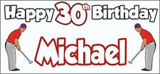 Golf Golfer Mens 30th Birthday Banner x2 Party Decorations Personalised ANY NAME