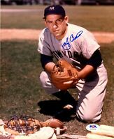 Yogi Berra autographed signed 8x10 photo MLB New York Yankees PSA COA WS Champ