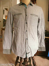 English Laundry by Christopher Wicks Gray Dress Shirt Size M