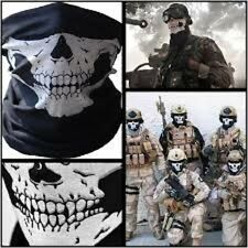 Neoprene Black Skull Half Face Mask Ghost Scarf Half Dot Neck Warmer Windproof