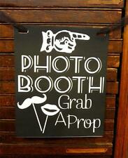 Photo Booth Wedding Engagement Sign Props Black & White Retro