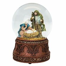 Traditional Nativity Christmas Snow Globe (Musical)