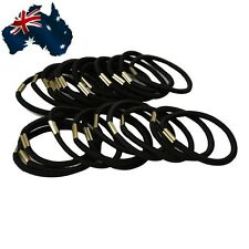 50x Women Black Elastic Hair Ties 5X Band Ropes Ring Ponytail Holders