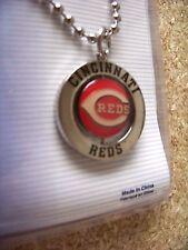 Cincinnati Reds spinner logo / #1 Fan chain necklace