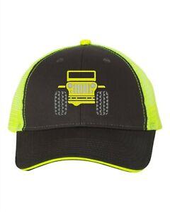 Low Profile Trucker Cap - Jeep - Charcoal/Neon Yellow/Hellayella/Baja/Dune/Dozer