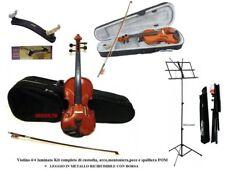 VIOLINO DA STUDIO MISURA 4/4 KIT : CUSTODIA + ARCHETTO + SPALLIERA FOM + LEGGIO