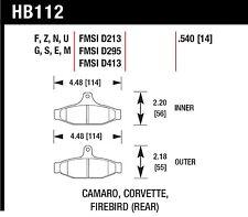 Hawk Performance HB112N.540 Fade Resistant Disc Brake Pads
